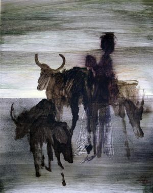 African Study, art for sale online by Sidney Nolan