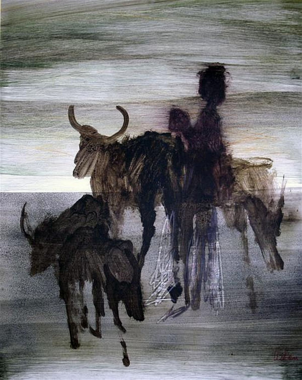 African Study artwork by Sidney Nolan - art listed for sale on Artplode