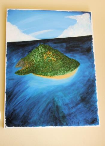 WOMAN IS AN ISLAND, art for sale online by Stef L Schultz