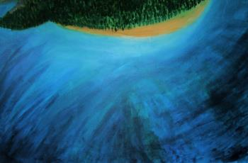 WOMAN IS AN ISLAND artwork by Stef L Schultz - art listed for sale on Artplode