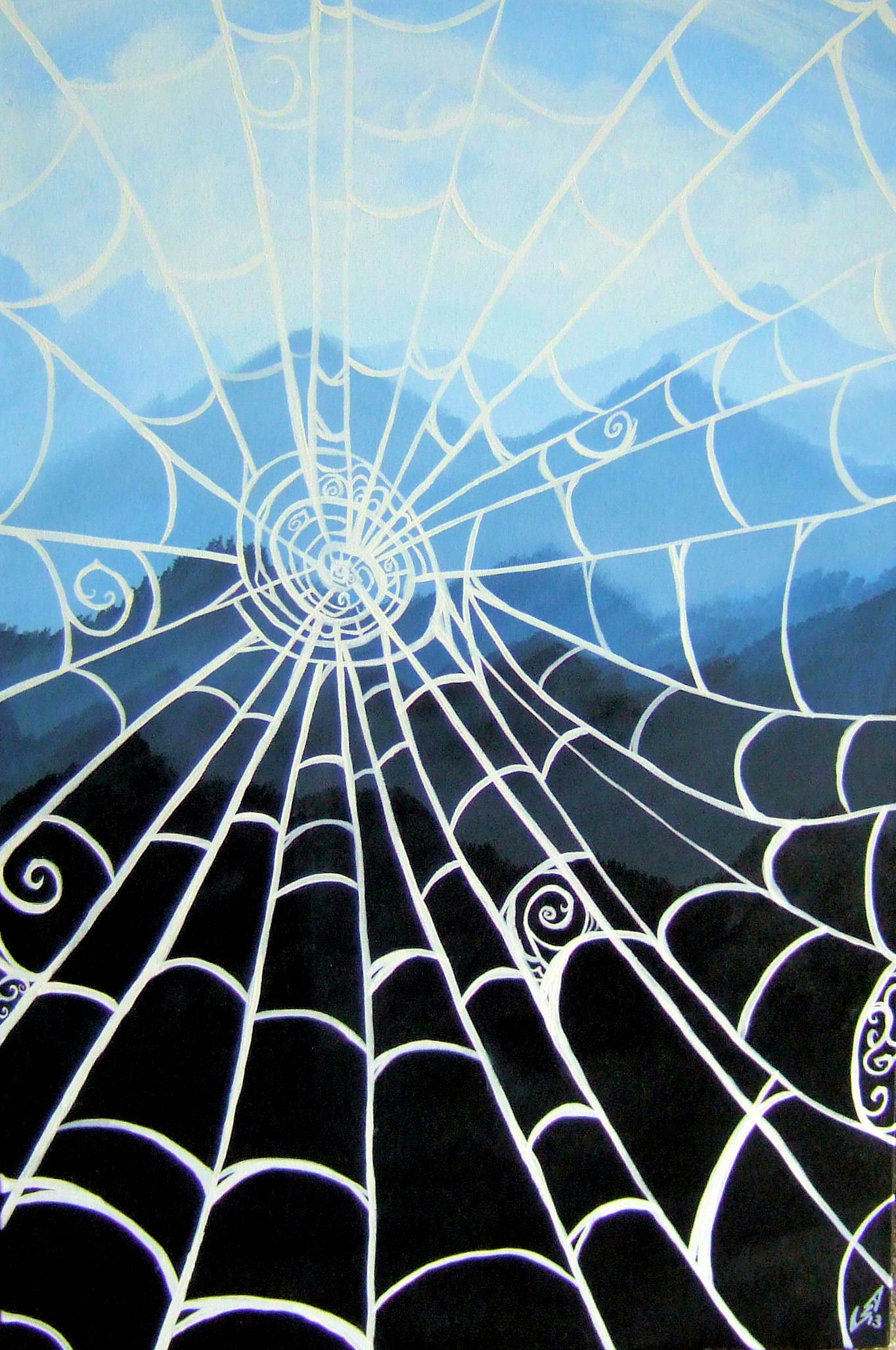 Web With A View artwork by Stefanie Schultz - art listed for sale on Artplode