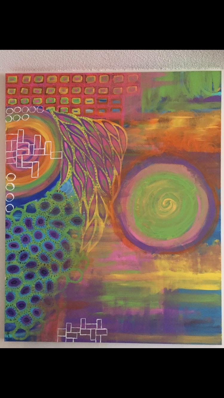 Life Ever Evolving  artwork by Ashwini Bidari - art listed for sale on Artplode