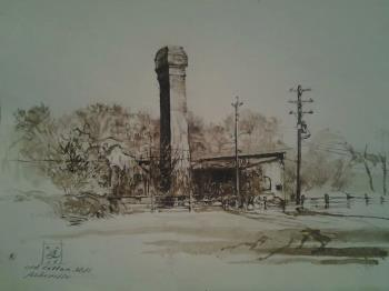 Old Cotton Mill, art for sale online by Benjamin Long