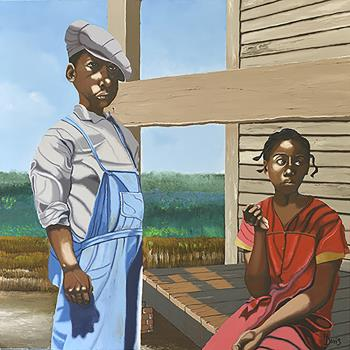 Sharecroppers Children, art for sale online by Harry Davis