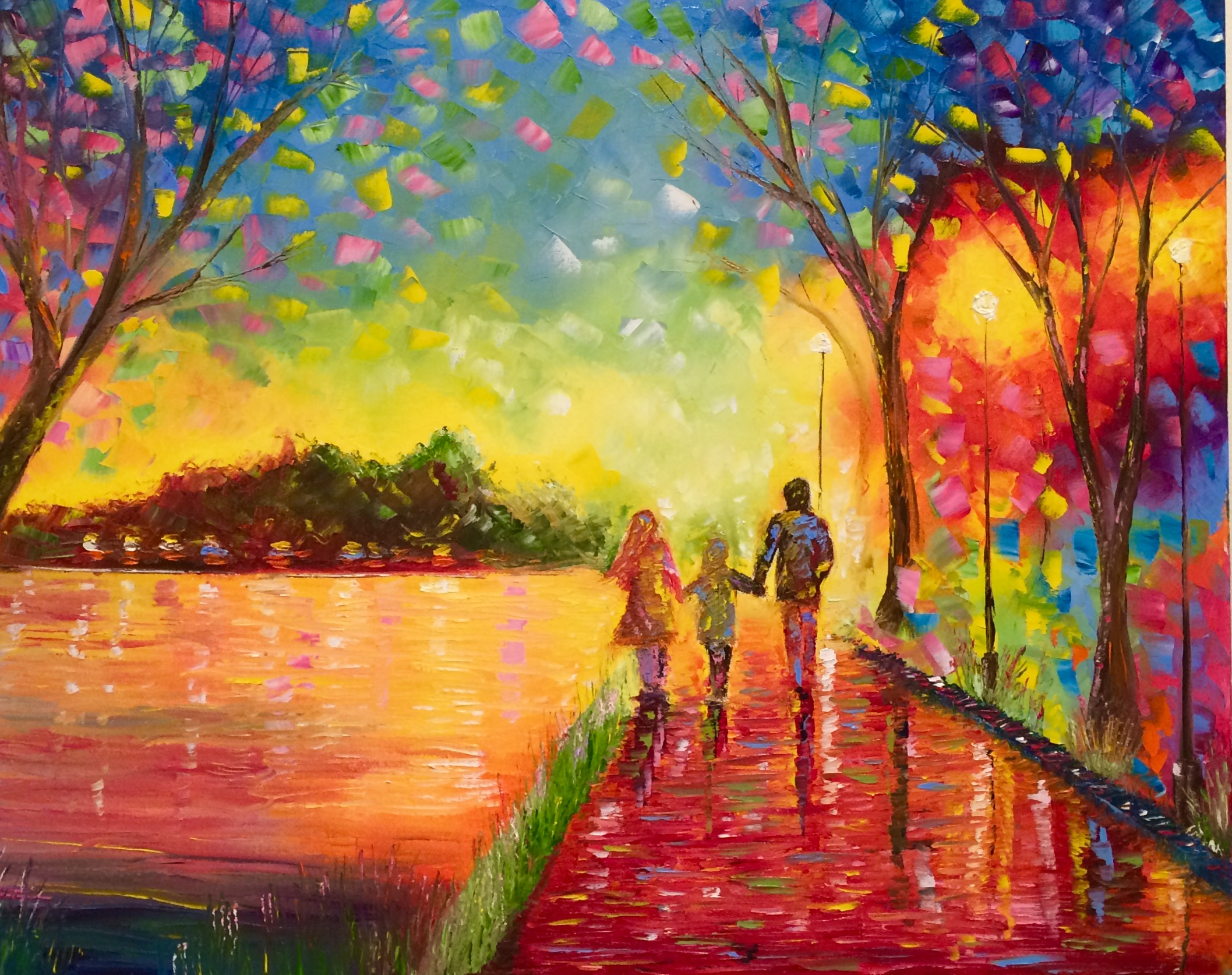 Walking Along the River artwork by Greg Gilreath - art listed for sale on Artplode