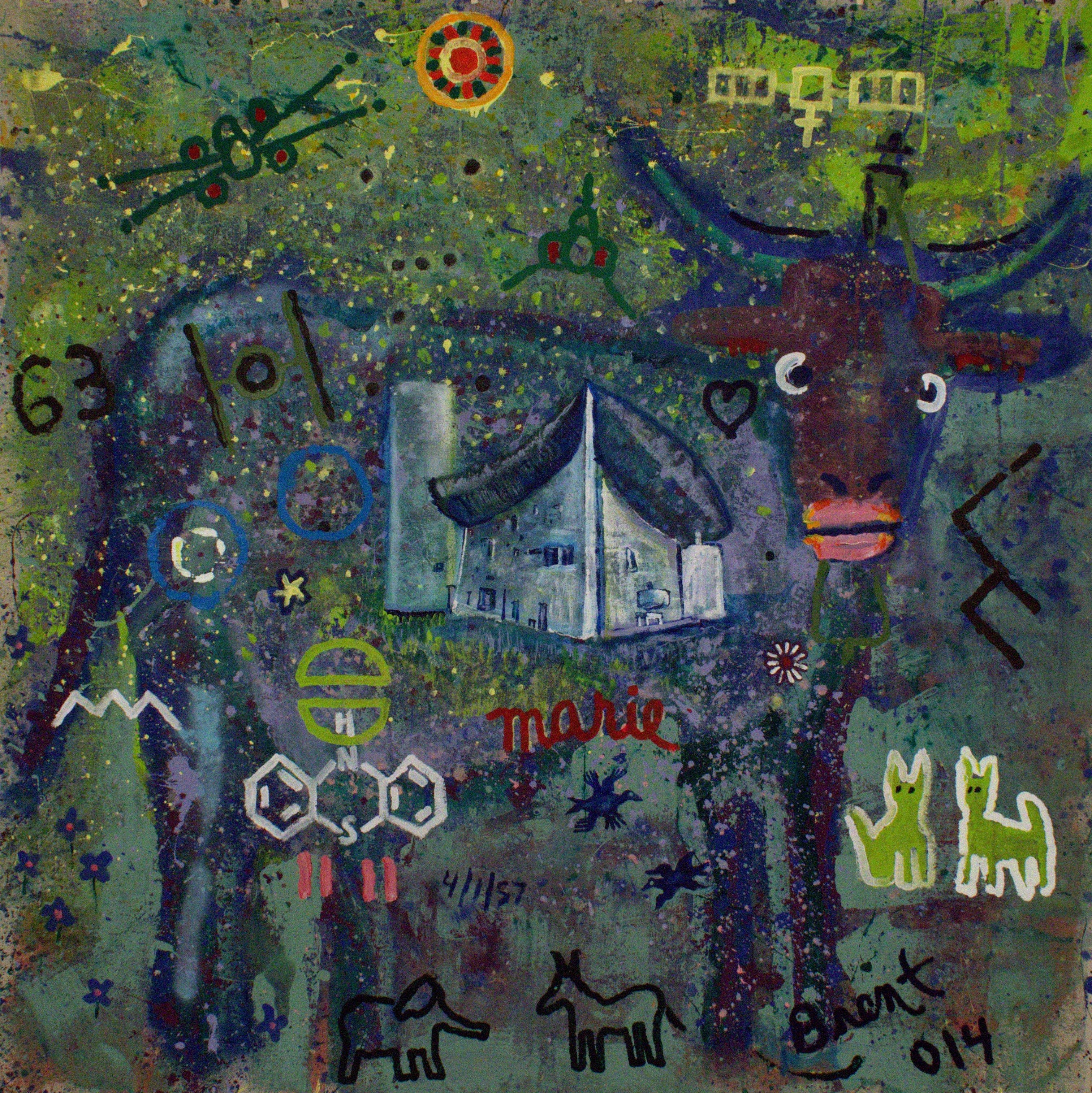 R on Ch Amp Cow artwork by Brent Weston - art listed for sale on Artplode