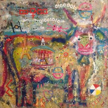 Care Us el Cow, art for sale online by Brent Weston