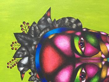 Frida artwork by Sofya Pushkarskaya - art listed for sale on Artplode