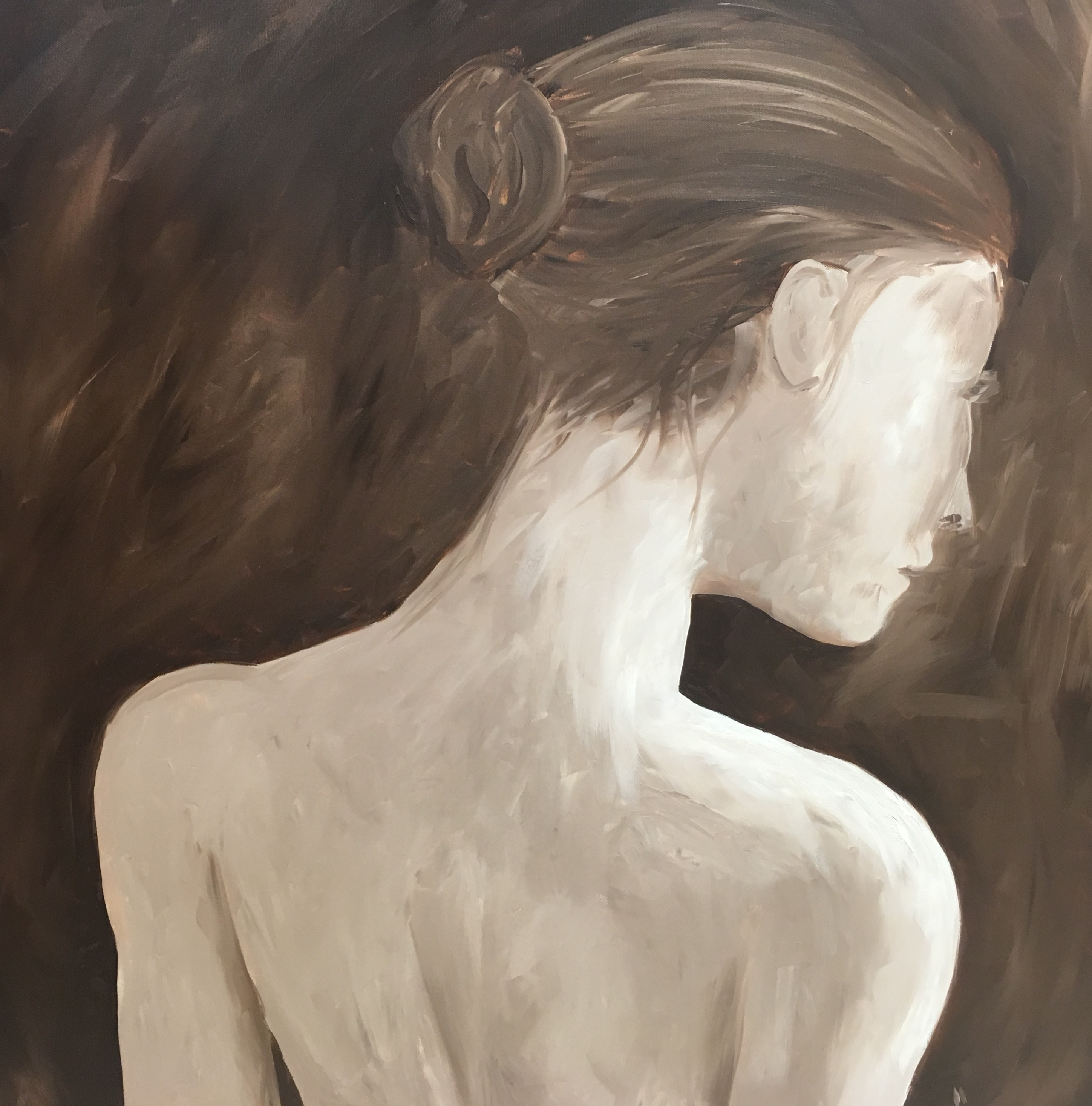 Contemplation From Behind artwork by Hanz Frederick Messer - art listed for sale on Artplode