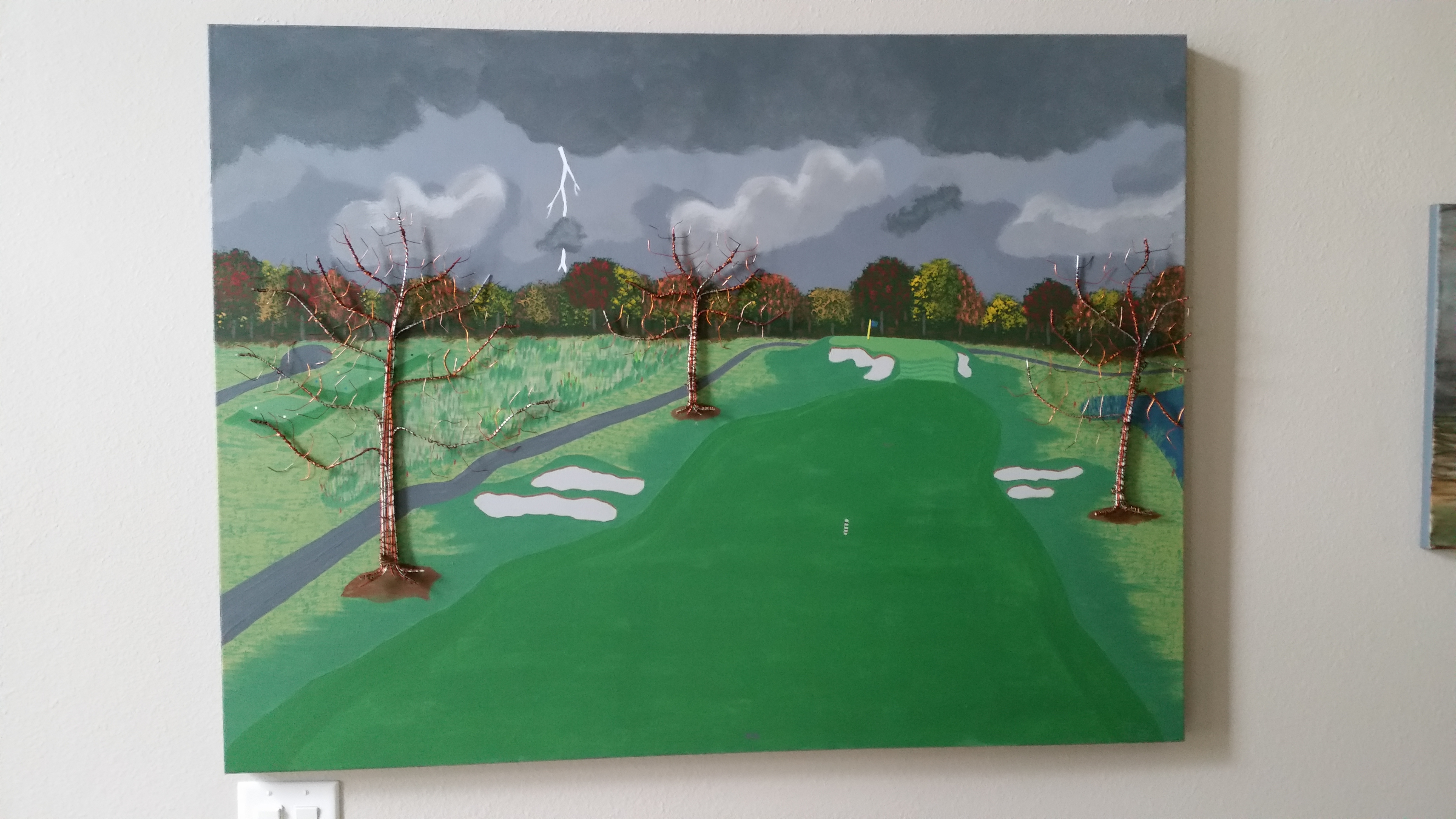 We can get one more hole in Maybe artwork by James Garrett - art listed for sale on Artplode
