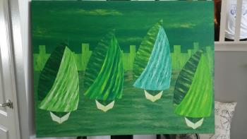 The Green Regata, art for sale online by James Garrett
