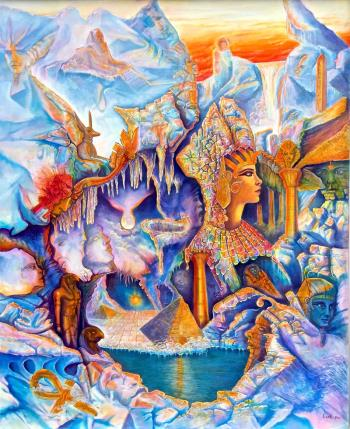 Ice Pharaoh artwork by Evel Torres - art listed for sale on Artplode