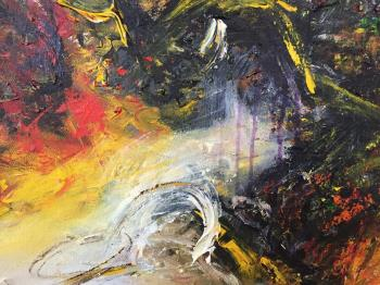 Mountains and River from Afar artwork by Richard Ting - art listed for sale on Artplode