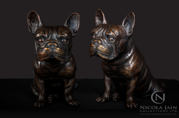 French Bulldog in Bronze , art for sale online by Nicola Lewis