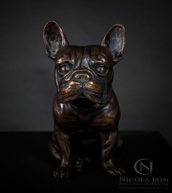 French Bulldog in Bronze  artwork by Nicola Lewis