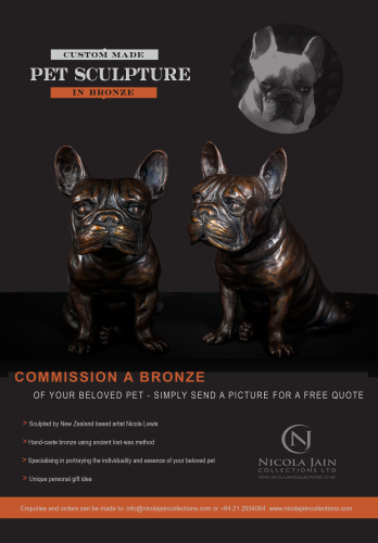 French Bulldog in Bronze  artwork by Nicola Lewis - art listed for sale on Artplode