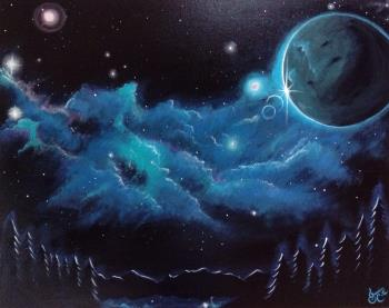 Etherean Serenity, art for sale online by Jessica Cote