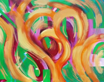 Fire Dance, art for sale online by Sylvia Meza