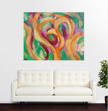 Fire Dance artwork by Sylvia Meza - art listed for sale on Artplode
