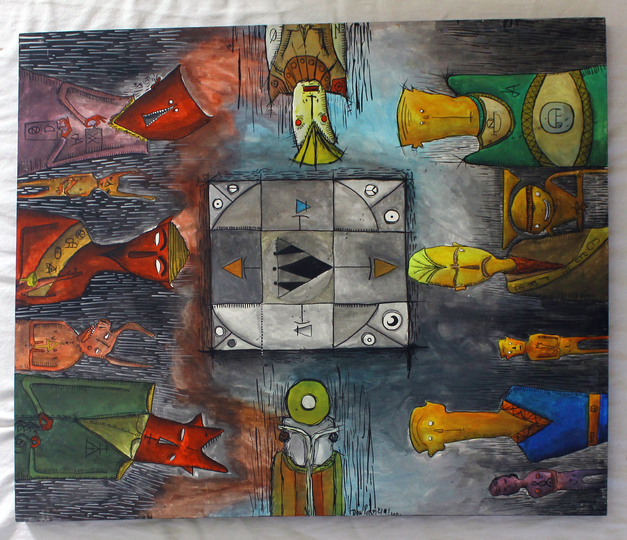 The floating thing between them and you artwork by Diego Don Porfirio - art listed for sale on Artplode