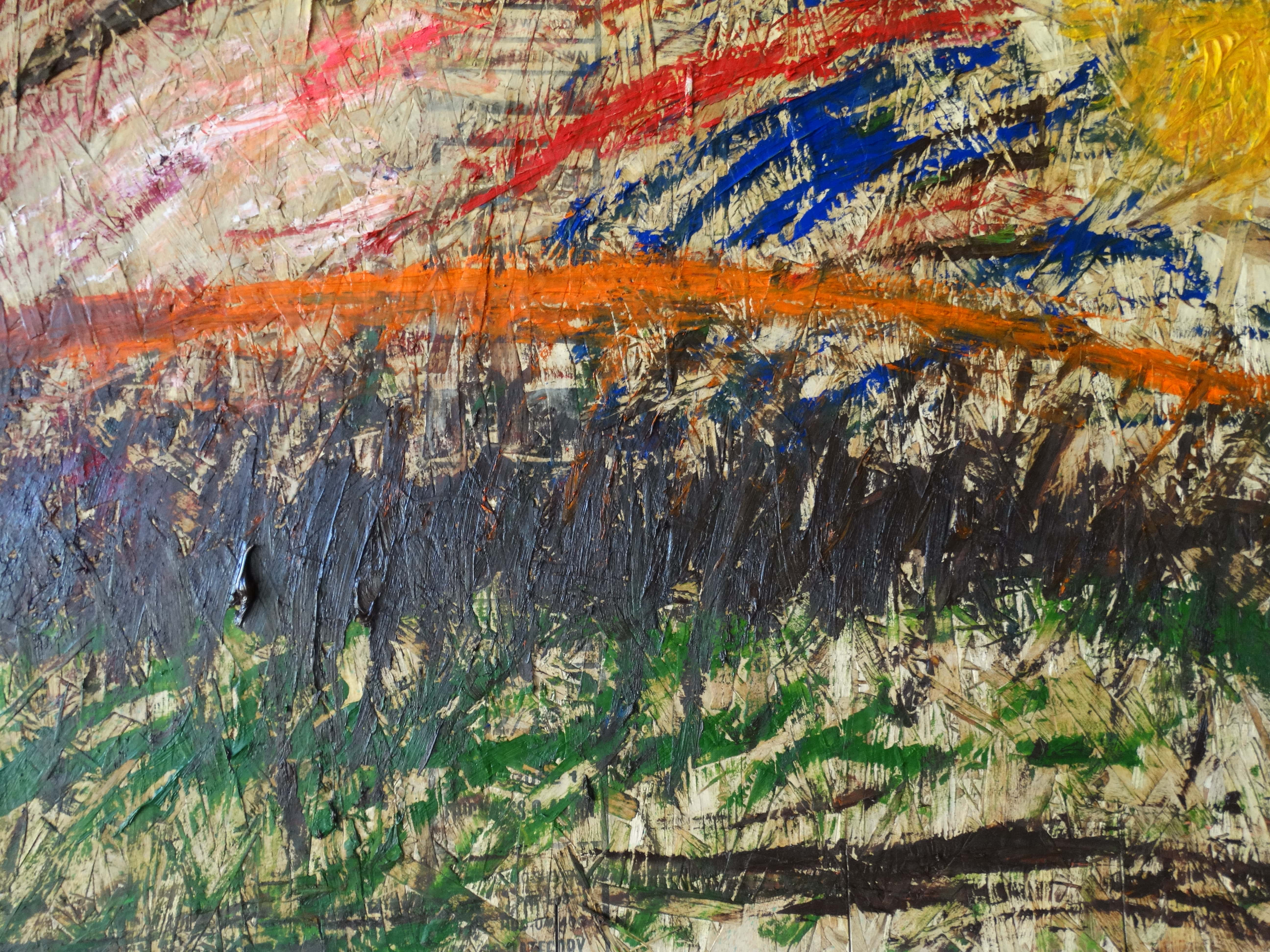 Orange Hill Without Trees artwork by Eric McCuaig - art listed for sale on Artplode