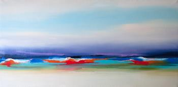 Purple Horizon, art for sale online by Samantha Boni