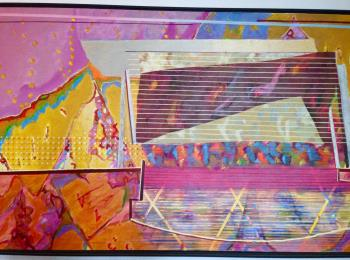 Pink Shy Retake artwork by David Wright - art listed for sale on Artplode
