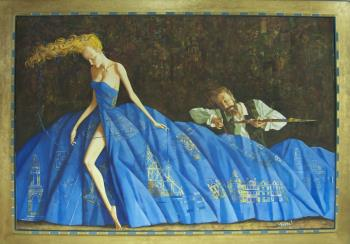 La Robe Bleu, art for sale online by Roman Zaslonov