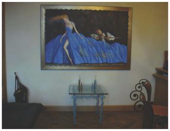 La Robe Bleu artwork by Roman Zaslonov