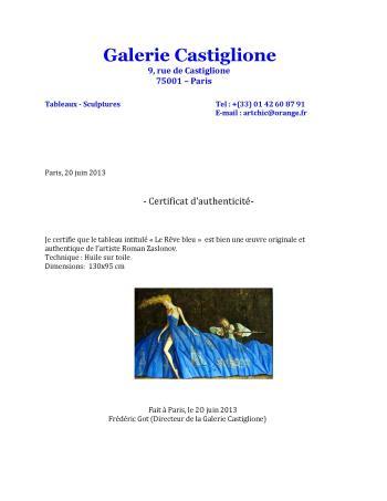 La Robe Bleu artwork by Roman Zaslonov - art listed for sale on Artplode