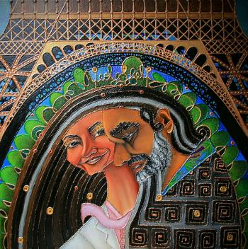 Walking Around Paris, art for sale online by Nicole Gubin