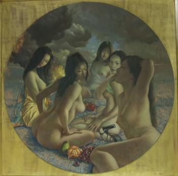 Diana and her Maidens, art for sale online by John Wellington