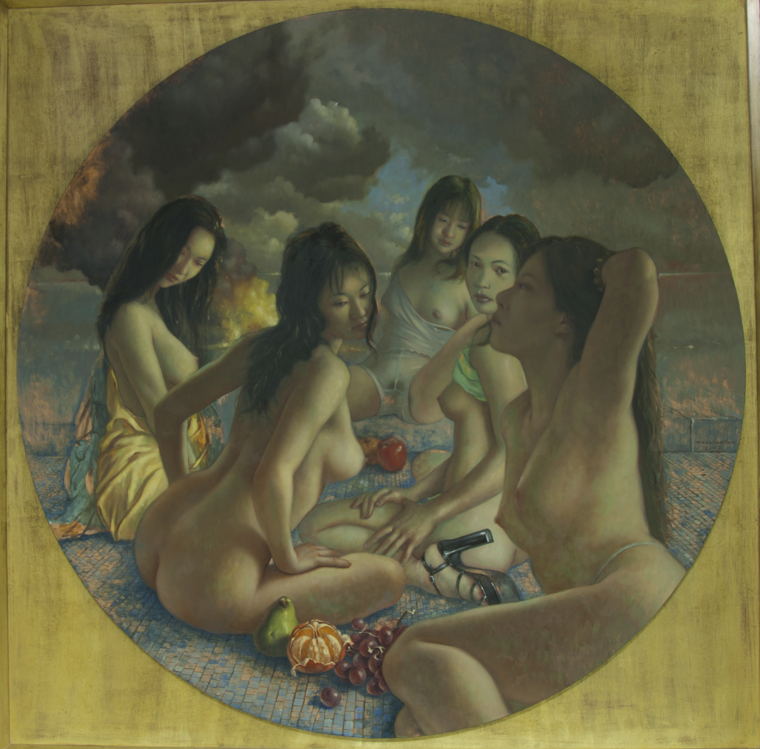 Diana and her Maidens artwork by John Wellington - art listed for sale on Artplode