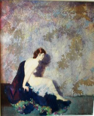 Nude Study, art for sale online by Norman Lindsay