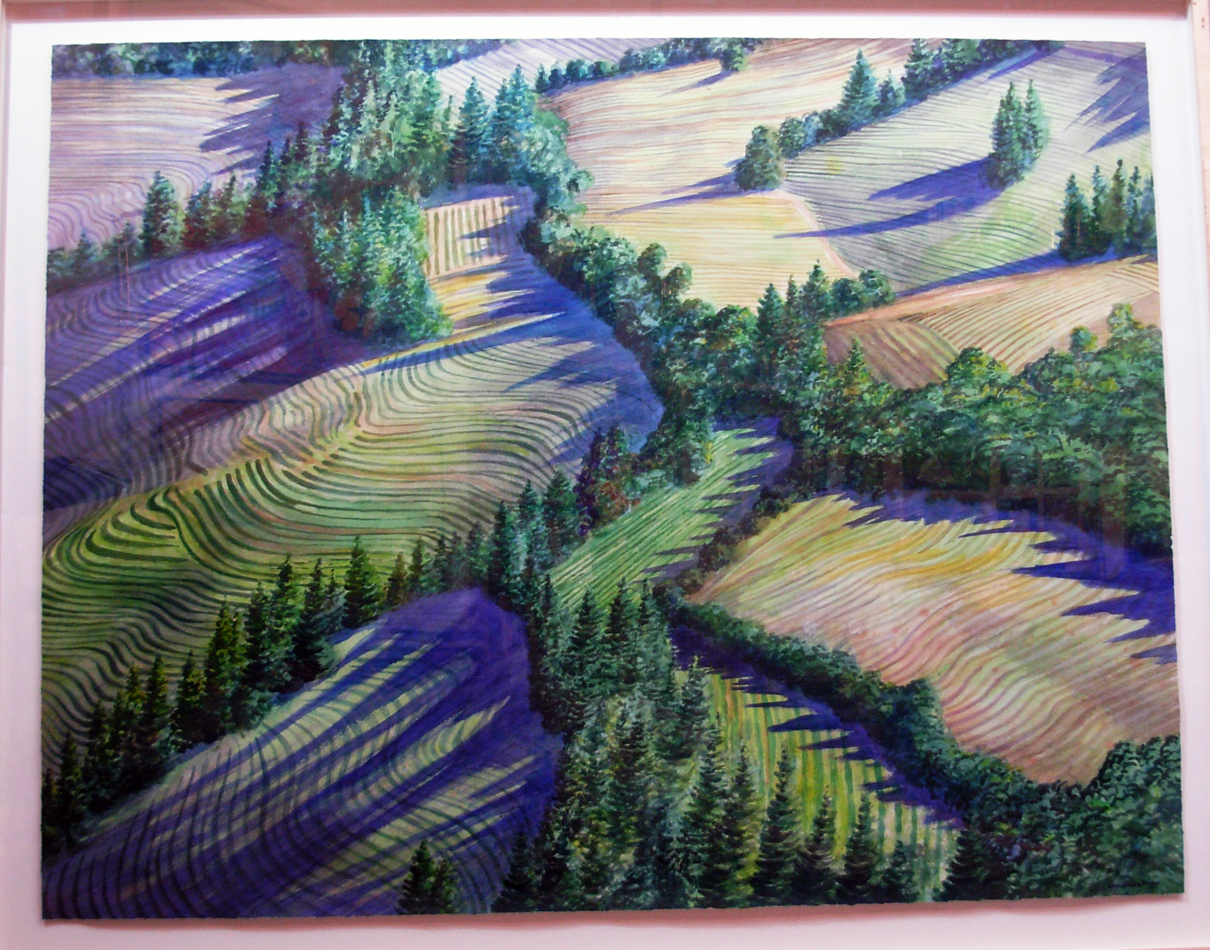 Napa Hills Aerial artwork by Woodward PAYNE - art listed for sale on Artplode