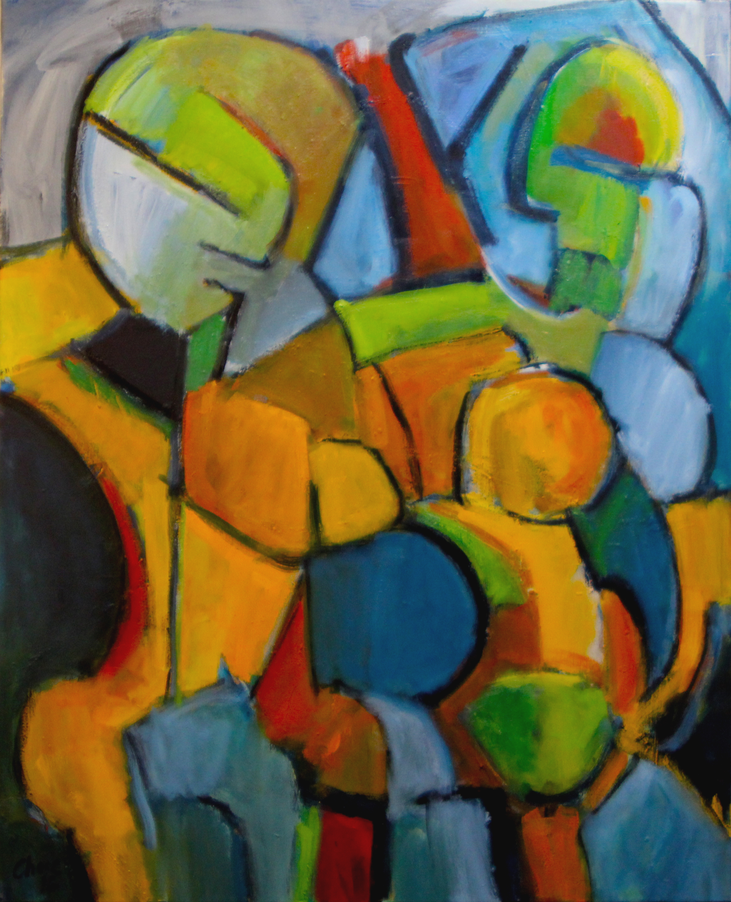 Two Women Embracing artwork by Chase Bailey - art listed for sale on Artplode