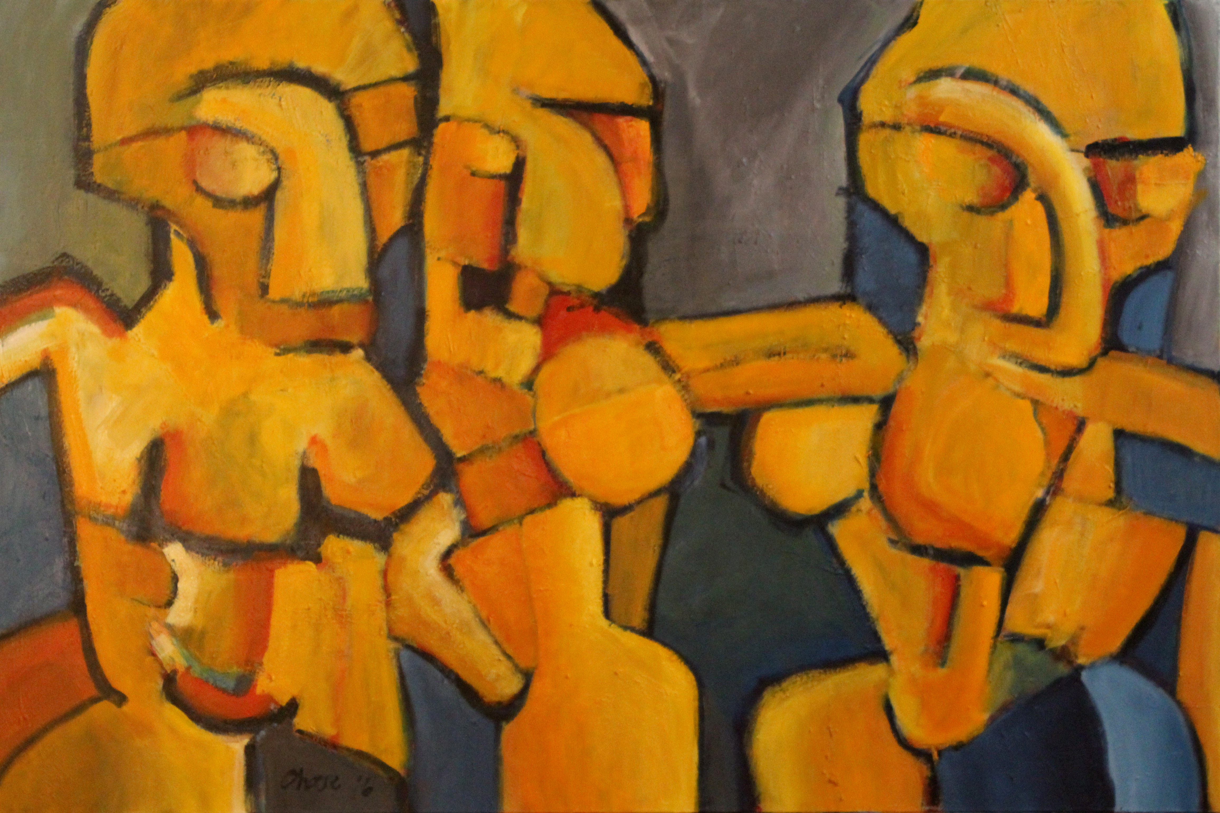 Trois Femmes dans LAmour artwork by Chase Bailey - art listed for sale on Artplode