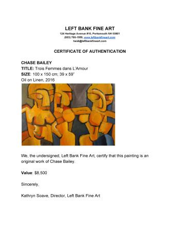 Trois Femmes dans LAmour artwork by Chase Bailey