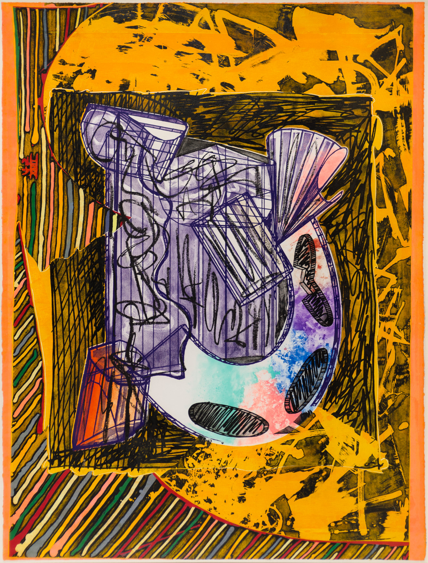Bene Come il Sale artwork by Frank Stella - art listed for sale on Artplode