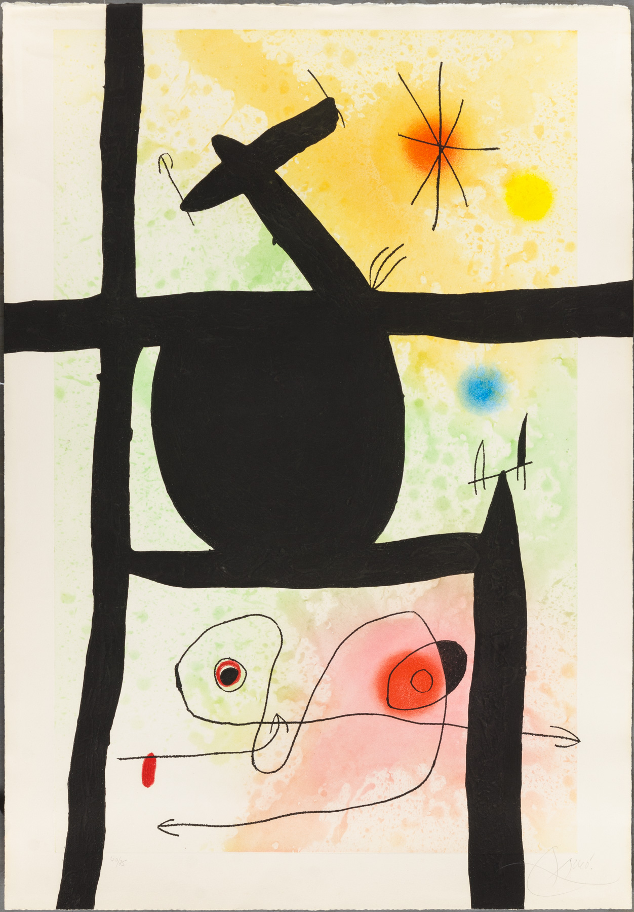 La Calebasse artwork by Joan Miro - art listed for sale on Artplode