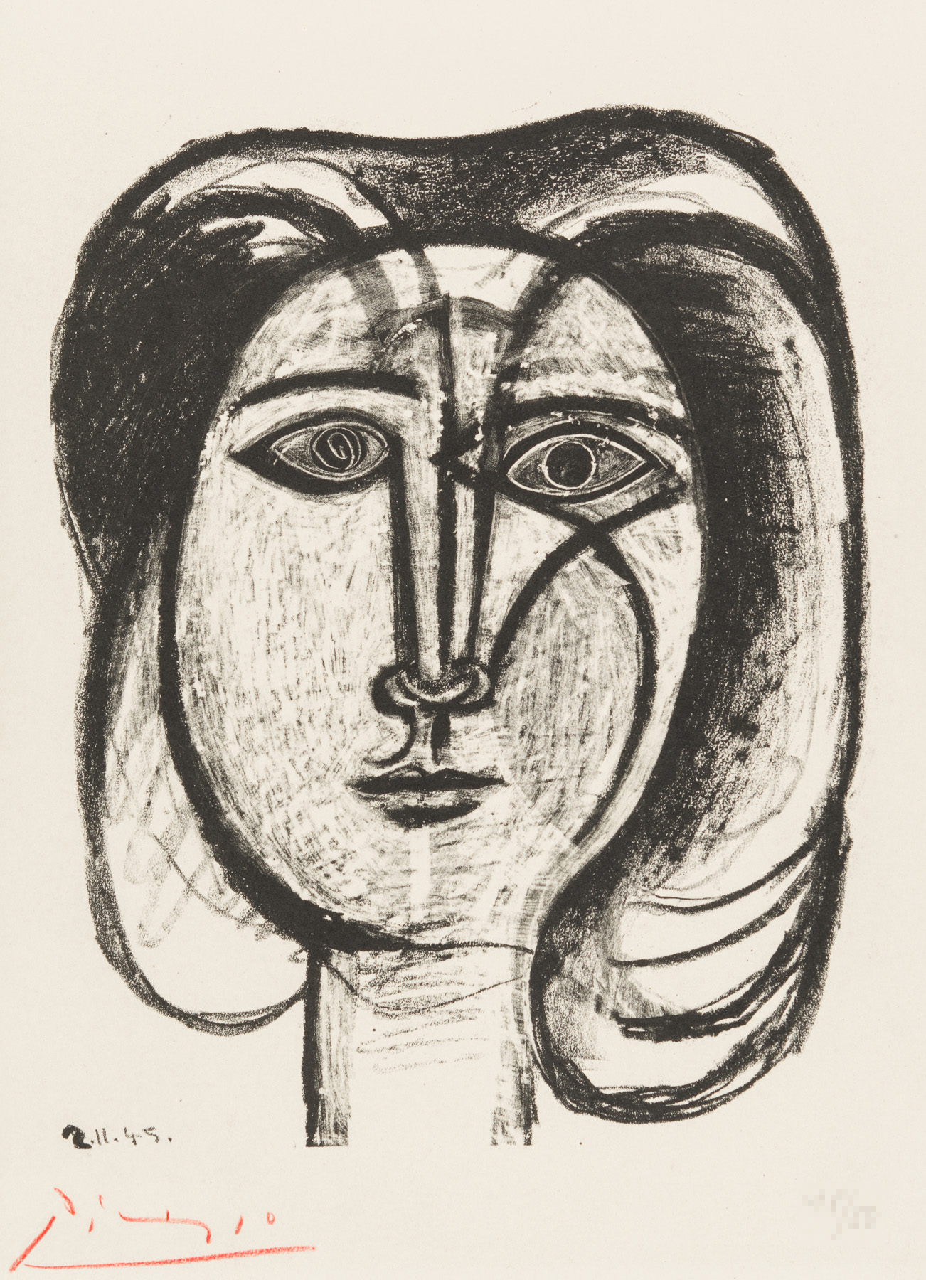Tete de Femme artwork by Pablo Picasso - art listed for sale on Artplode