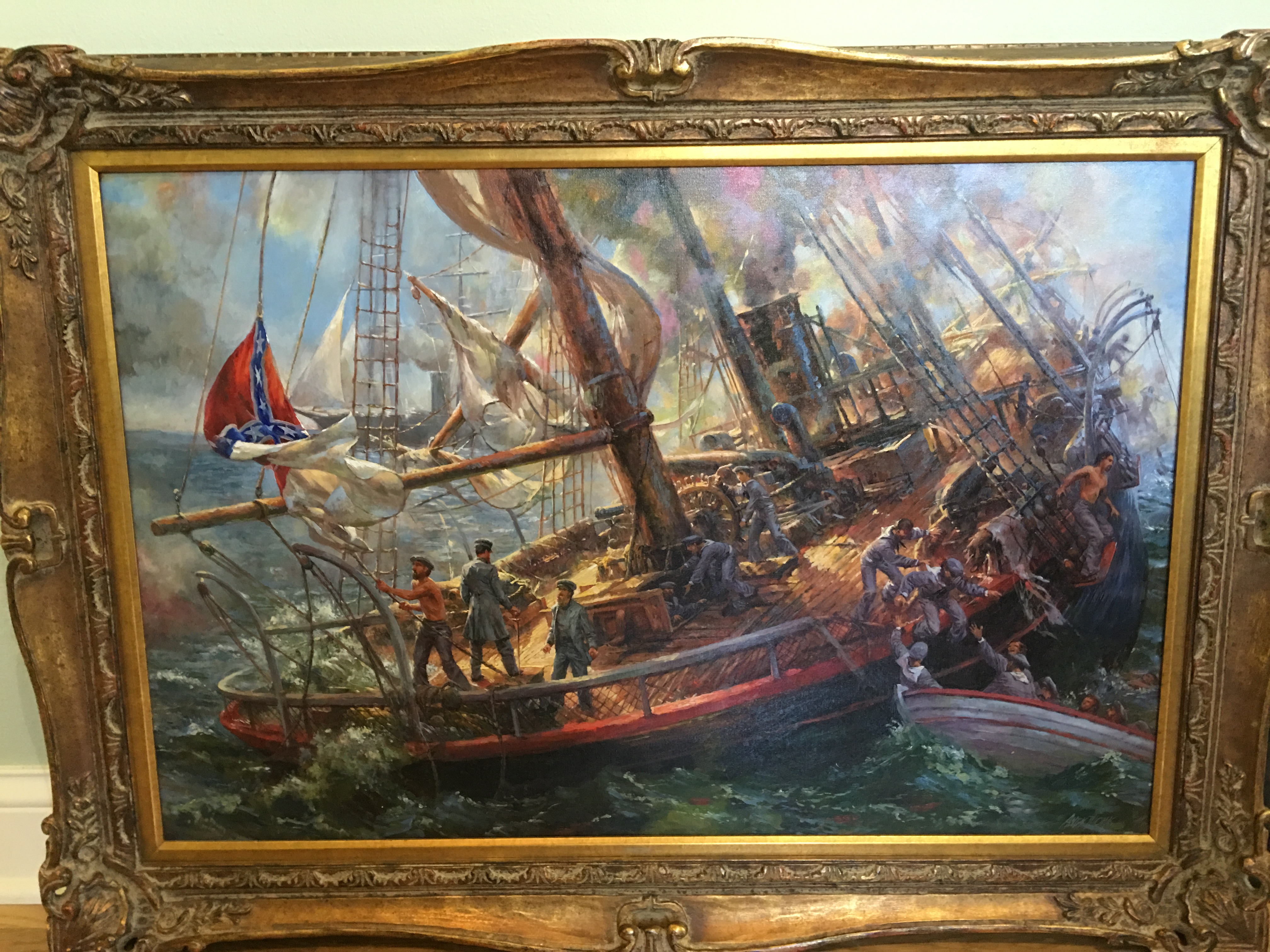 The Sinking of the CSS Alabama artwork by Andy Thomas - art listed for sale on Artplode