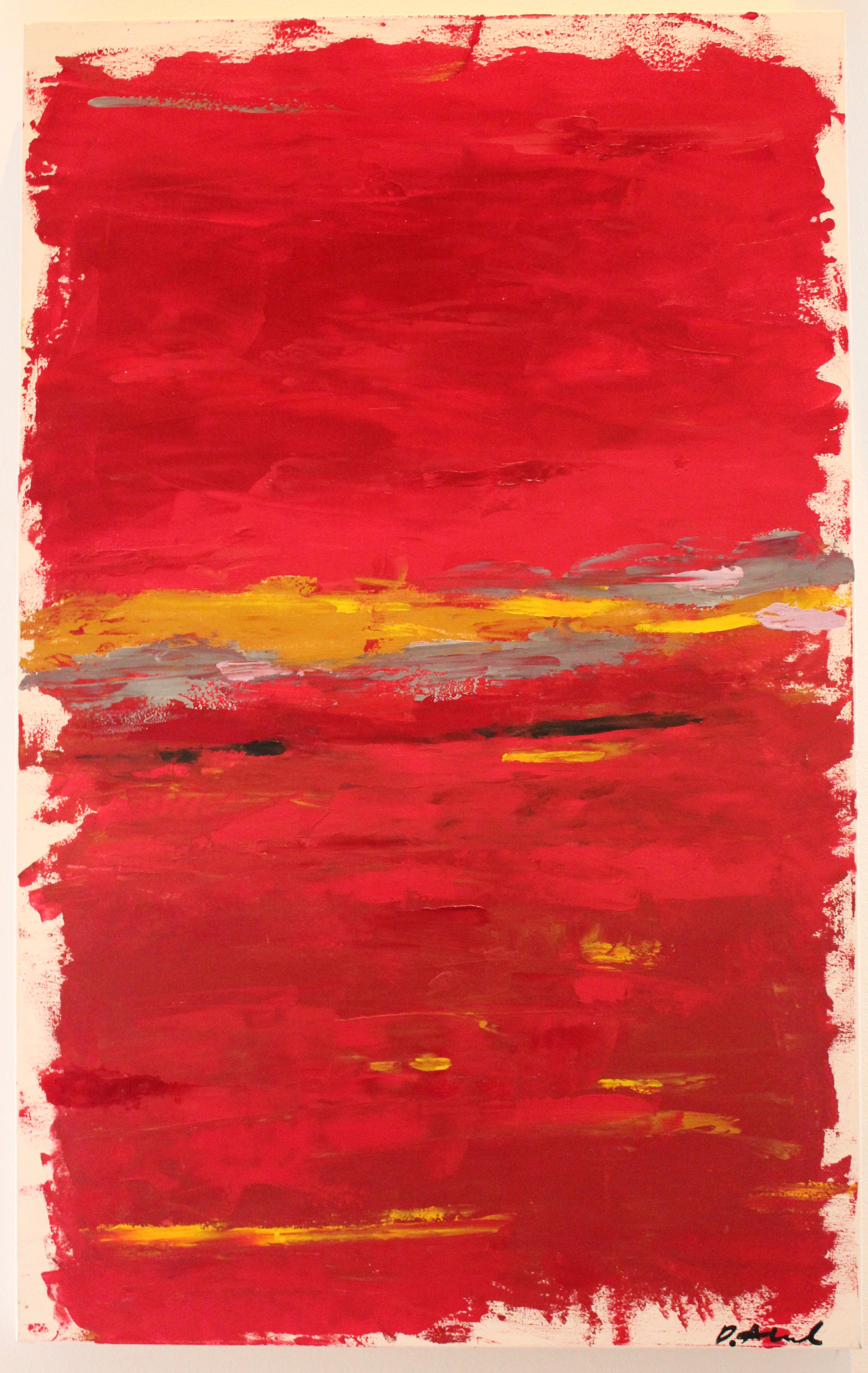 Red One artwork by Damian Alcock - art listed for sale on Artplode