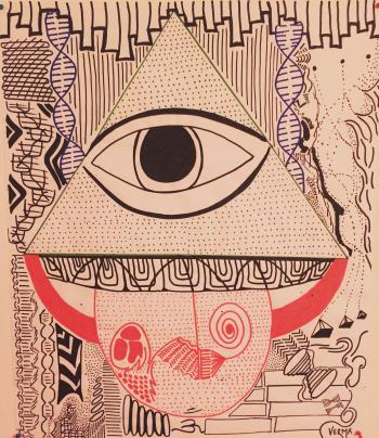 The Divine Eye, art for sale online by yash Verma