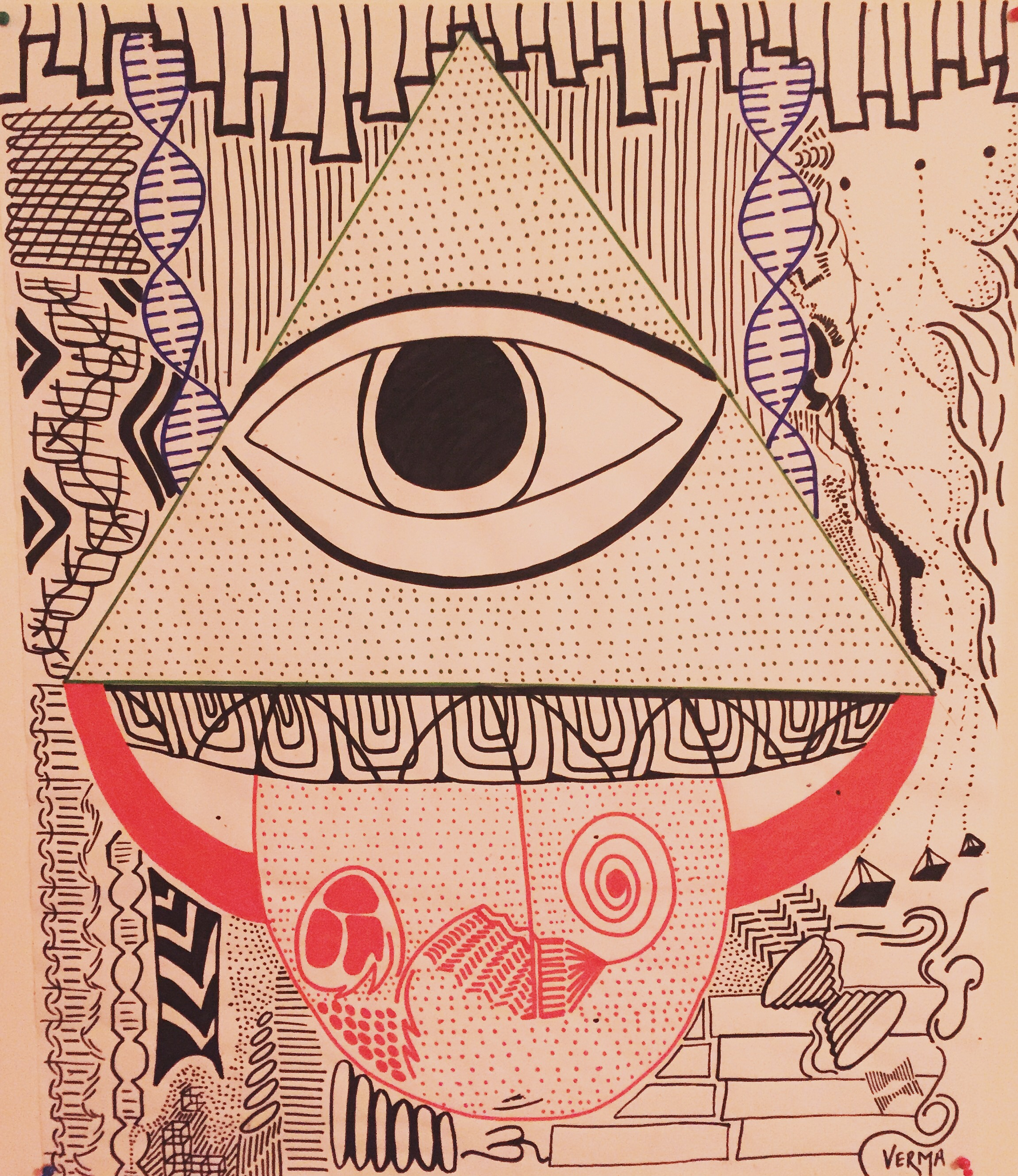 The Divine Eye artwork by yash Verma - art listed for sale on Artplode