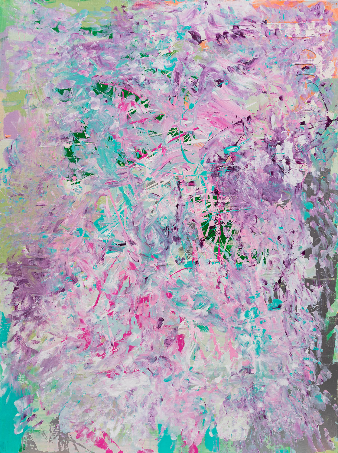 Purple Milky Way artwork by Lauren Cutler - art listed for sale on Artplode