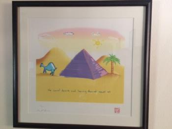 The Camel Dances, art for sale online by John Lennon