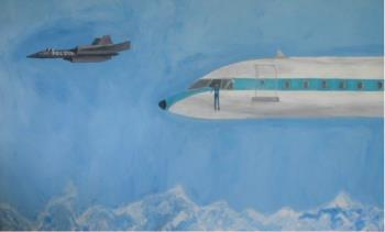 Police Plane , art for sale online by Vahakn Arslanian