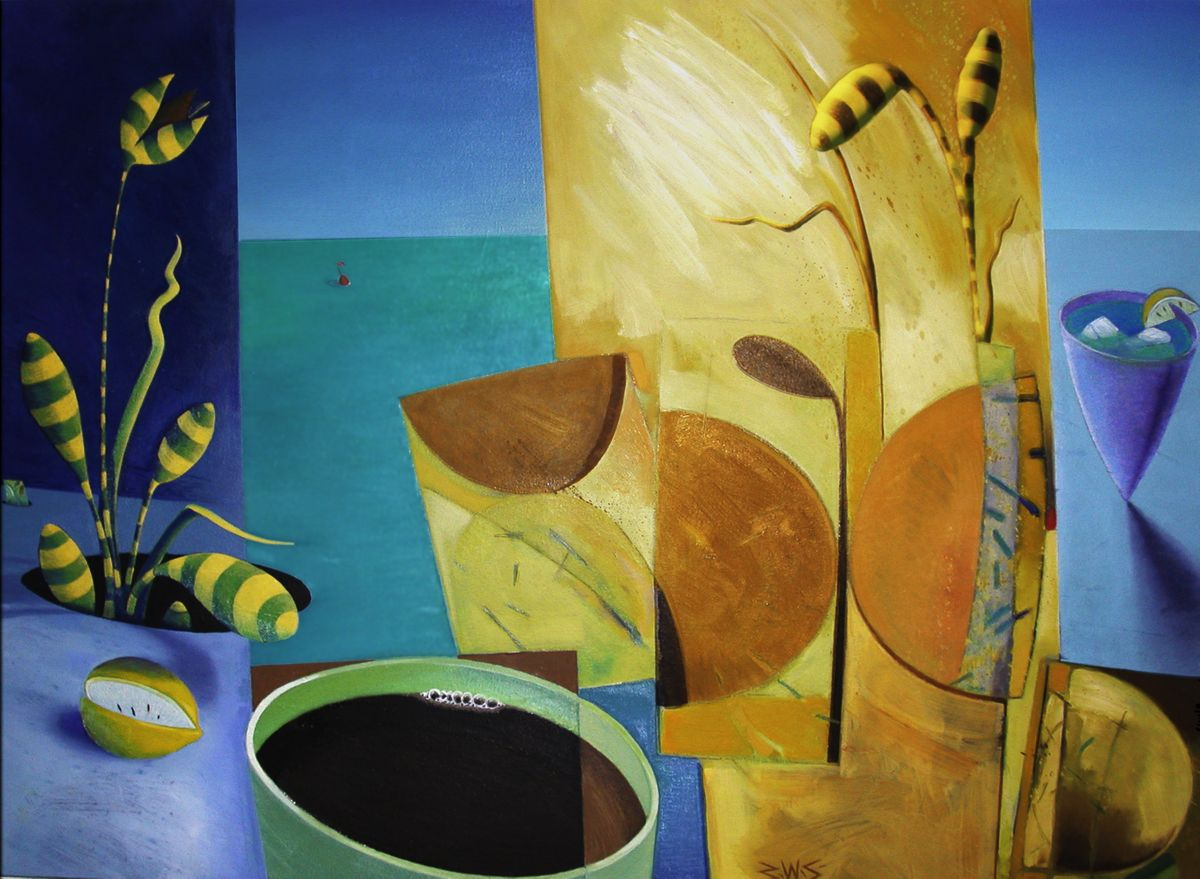 Morning Coffee and Remnent Dreams artwork by Barry Scharf - art listed for sale on Artplode