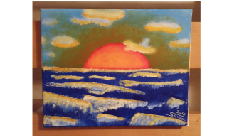 sunset , art for sale online by KreaSteve